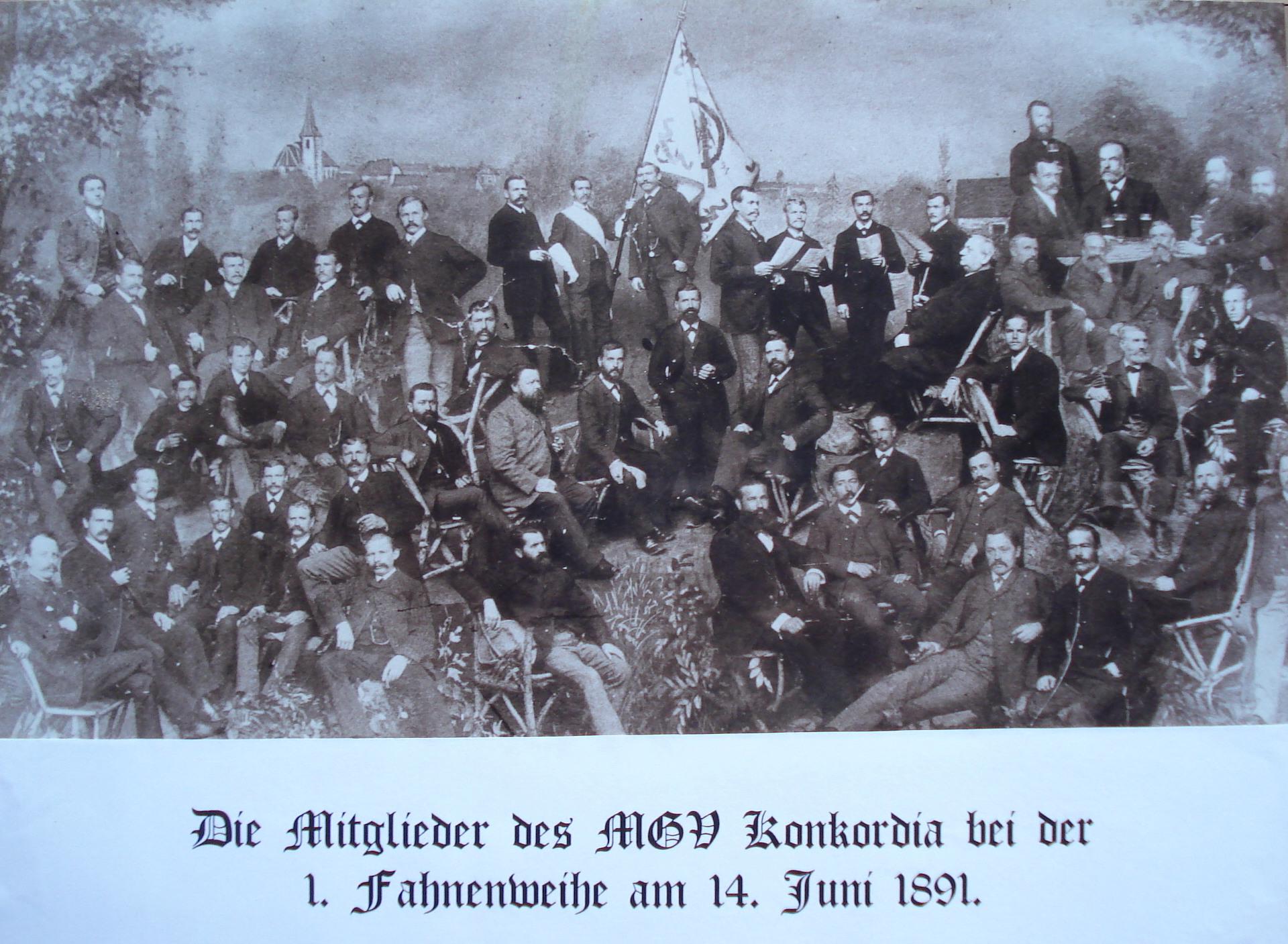 Konkordia im Jahre 1891